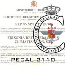 FRIZONIA obtiene la certificación de la norma PECAL/AQAP 2110
