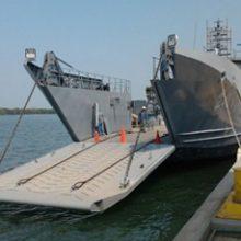 Entrega último contenedor de equipos y materiales para los buques BDA 2 y 3 MKII