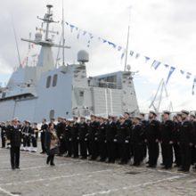 """FRIZONIA asiste a la entrega del buque BAM """"Furor"""" realizada por NAVANTIA a la Armada Española"""